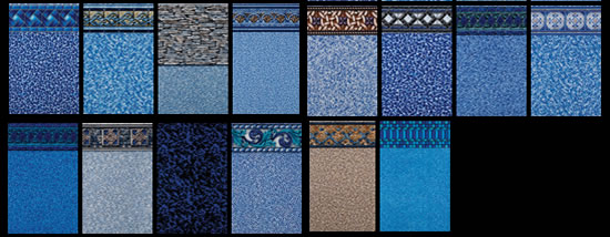 here is a small sample of vinyl pool liner choices come in and talk to us about our complete selection